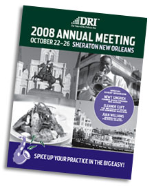Download the 2008 Annual Meeting Program and Registration form