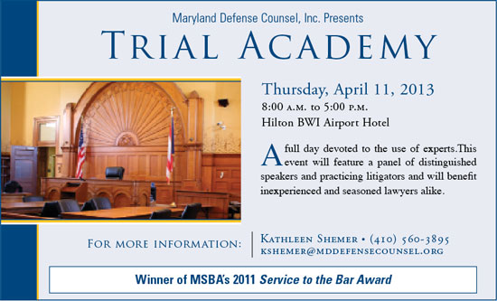 Trial Academy: April 11, 2013