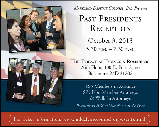 Past Presidents Reception: October 3, 2013