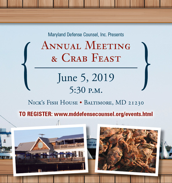 MDC Crab Feast — June 5, 2019, 5:30pm