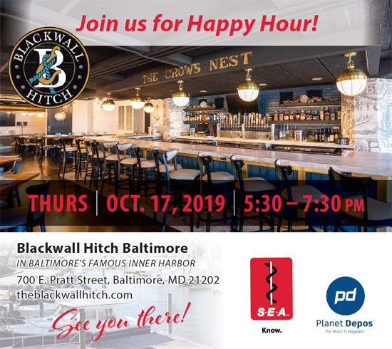 Free Happy Hour sponsored by SEA and Planet Depos