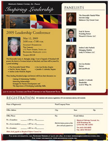 Click to download a Leadership Conference registration form and flyer.