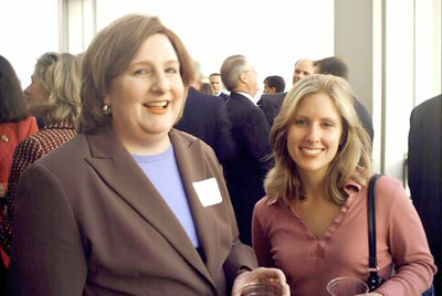 Treasurer Kathy Bustraan with DRI Young Lawyer's Liaison Nichole Nesbitt