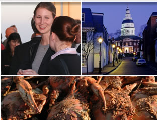 Young attorneys, Annapolis, crab feast